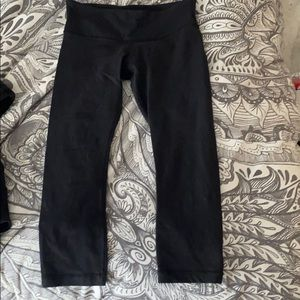 Lululemon Wunder under cropped leggings black